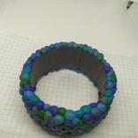 Широкий браслет в сине-бирюзовых тонах (3), фото №6