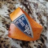 Кожаный браслет Diesel, фото №2