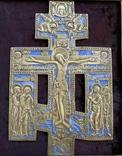 Крест Бронза большой в киоте, фото №4