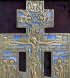 Крест Бронза большой в киоте, фото №5