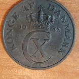 Дания,5 эре,1943 г., фото №2