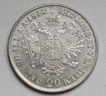 20 крейцеров 1841 г. Австрия, серебро, фото №6