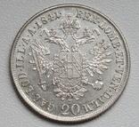 20 крейцеров 1841 г. Австрия, серебро, фото №7