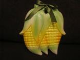 Настенная  плакетка - Кукуруза - майолика., фото №2