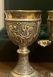 Пара бокалов, серебро 925, вес 538 грамм., фото №5