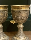 Пара бокалов, серебро 925, вес 538 грамм., фото №6