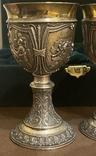 Пара бокалов, серебро 925, вес 538 грамм., фото №7