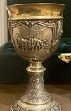 Пара бокалов, серебро 925, вес 538 грамм., фото №9
