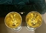 Пара бокалов, серебро 925, вес 538 грамм., фото №12