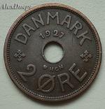 Дания, 2 ORE 1927 (HCN;GJ), фото №3