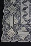 Старинная скатерть ручной работы 150х110, фото №7
