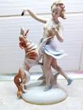 Статуэтка Девушка с собакой, фото №2