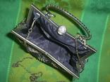 Сумочка из парчи. расшитая с металлической ручкой, фото №9