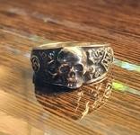 Кольцо с символикой СС копия в серебре 925., фото №3