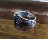 Кольцо с символикой СС копия в серебре 925., фото №4