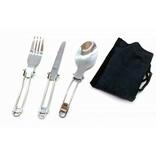Дорожный столовый набор ложка нож и вилка, фото №2