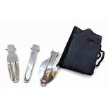 Дорожный столовый набор ложка нож и вилка, фото №3