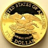 США 5 долларов 1995 г. Гражданская Война Пруф, фото №3