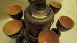 Набор из дерева графин с рюмками, фото №4
