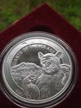 Пещерный медведь ведмідь Гана Гиганты ледникового периода 5 седи унция серебро 999, фото №3