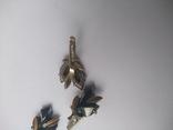 Набор серьги и кулон серебро, фото №5