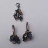 Набор серьги и кулон серебро, фото №9