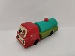 Машинка бензовоз СССР ОТК металл пластмасса 14 см. грузовая машина  № 2, фото №10