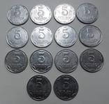 5 копеек погодовка (14 шт.) 1992,2003 - 2015 г.г., фото №3