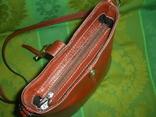 Сумочка кожаная Borse in Pelle на ремешке Италия, фото №6