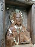 Икона Иисуса Христа из древесины ореха, фото №3