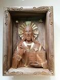 Икона Иисуса Христа из древесины ореха, фото №2