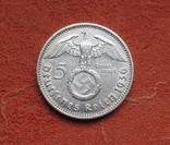 5 марок 1936 г. (Е) Третий рейх, свастика, серебро, фото №3