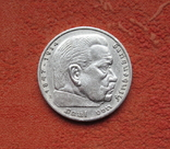 5 марок 1936 г. (Е) Третий рейх, свастика, серебро, фото №5