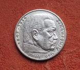 5 марок 1936 г. (Е) Третий рейх, свастика, серебро, фото №7