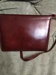 Винтажная женская английская кожаная сумка Clarks, фото №6