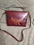 Винтажная женская английская кожаная сумка Clarks, фото №2