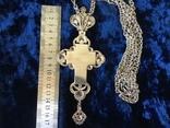 Крест распятие серебро золото, фото №8
