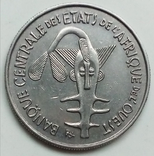 100 франков 1967 г. Западная Африка, фото №2