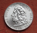 "2 шиллинга 1936 г. ""Принц Савойский"", Австрия, серебро, фото №6"