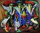"Художник A.Losovoj, картина ""Тайная вечеря, фрагмент 4"", холст, масло, 100х120 см, фото №2"