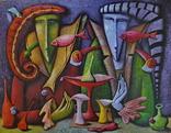 Художник A.Losovoj, картина ''Тайная вечеря. Эпизод 2'', 120х100 см., холст, масло, фото №2