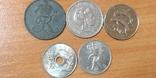 Лот монет Скандинавии, фото №2