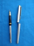 Чернильная ручка с загнутым пером(для левши) в металлическам корпусе, фото №3
