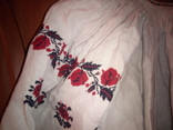 Старинная льняная рубашка с вышивкой, фото №4