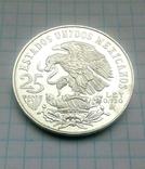 25 песо, серебро,1968г.Олимпиада,  плюс 4 монеты  Мексики, на бонус., фото №8