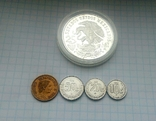 25 песо, серебро,1968г.Олимпиада,  плюс 4 монеты  Мексики, на бонус., фото №11