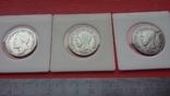 Шведские кроны в серебре три шт., фото №2
