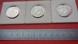 Шведские кроны в серебре три шт., фото №9