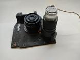 Объектив Индустар 50 2 с видеокамерой от камеры видеонаблюдения времён СССР, фото №12
