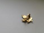 Брошь -малютка Кленовый листик. Винтаж. США. 50-е гг. (213814), фото №3